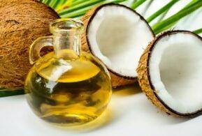 aceite de coco orgánico prensión en frio