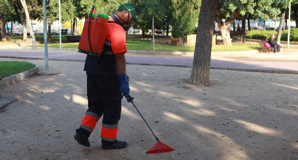 , Ciudad en España sustituye herbicida químico por vinagre en parques y plazas