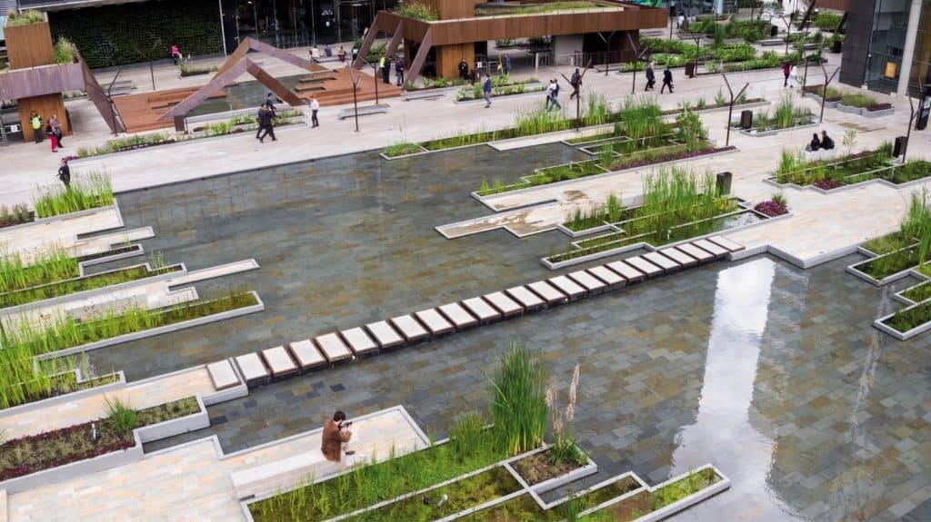 , «Pantanal urbano» da vida al centro empresarial de Bogotá