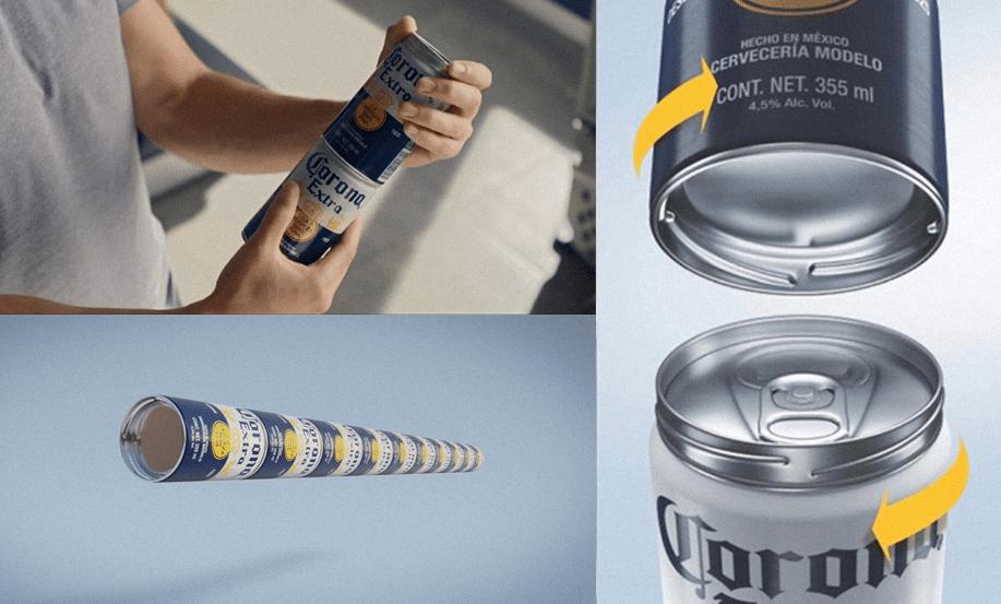 Latas de cerveza apilables y enroscables, el sencillo invento para acabar con las terribles anillas de plástico