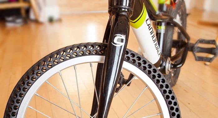 Diseñan ruedas de bicicleta biodegradables que no se pinchan ni se desinflan