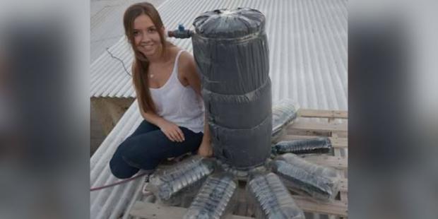 Este calentador solar está hecho con materiales reciclados-NATION