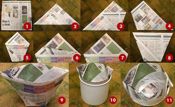 , Cómo hacer bolsas de papel para tirar los residuos y dejar las bolsas de plástico