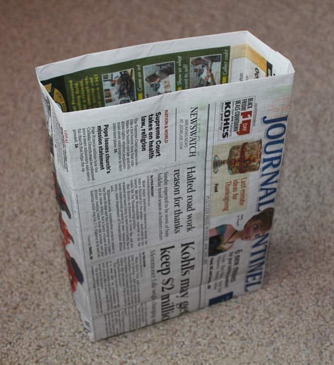 Cómo hacer bolsas de papel