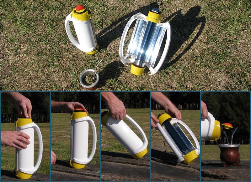 Solarmate, el termo calentador solar portátil de agua made in Argentina