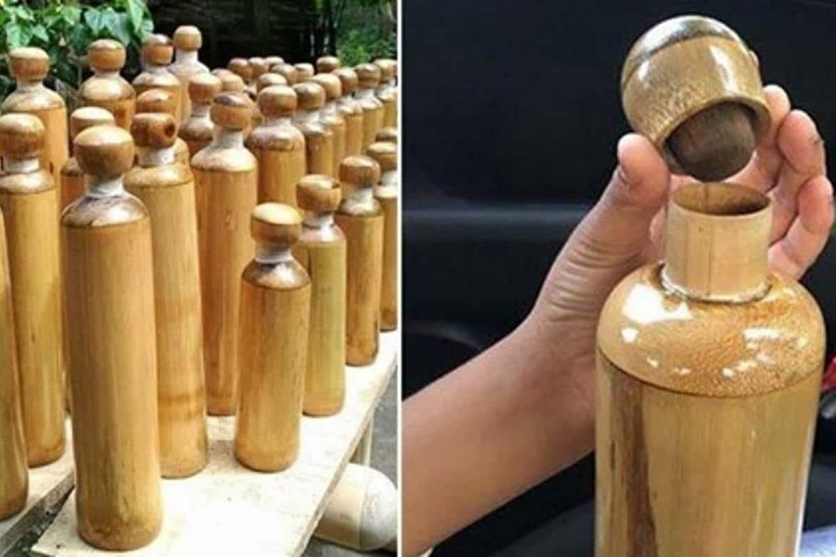 Botellas de bambú gratis para todos los turistas para luchar contra el plástico en la ciudad. La iniciativa de Lachen en India