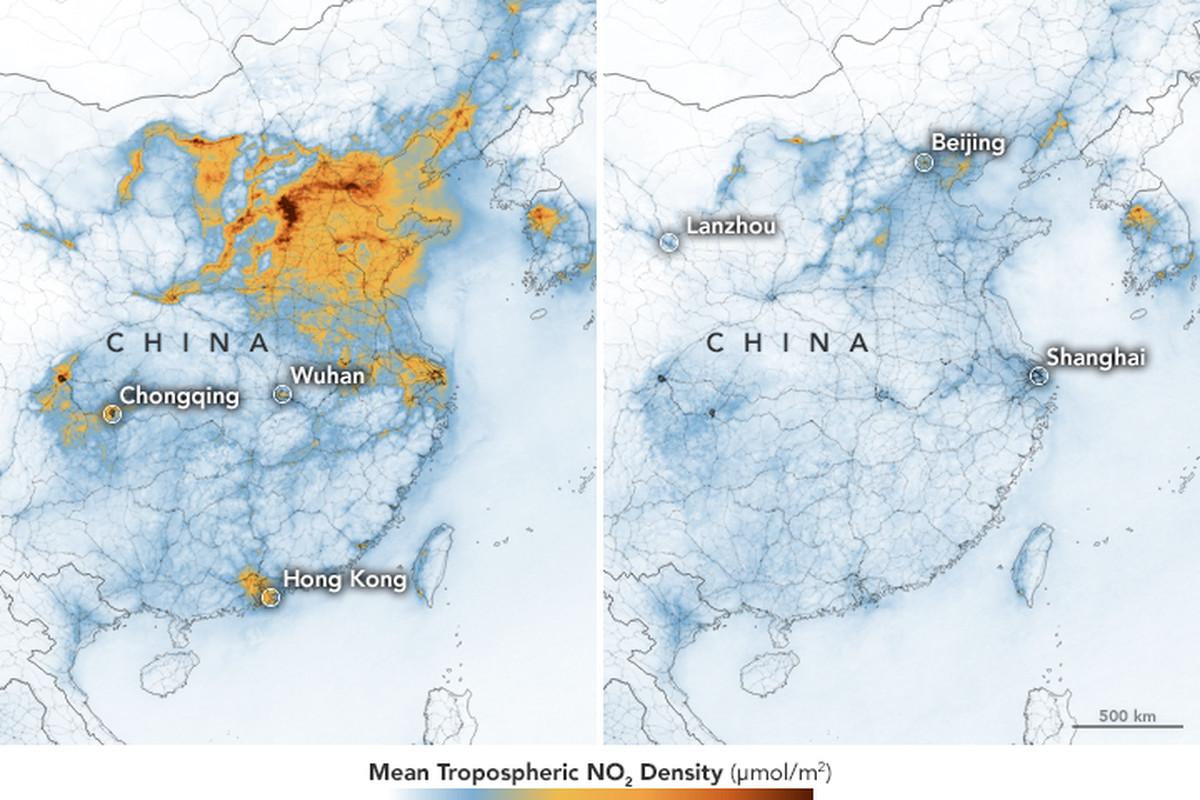 La NASA revela imágenes mostrando cómo disminuye la contaminación debido al Coronavirus
