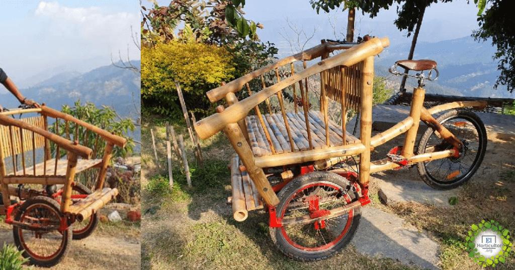 , La bicicleta eléctrica de bambú diseñada para aliviar la Contaminación Nepalí