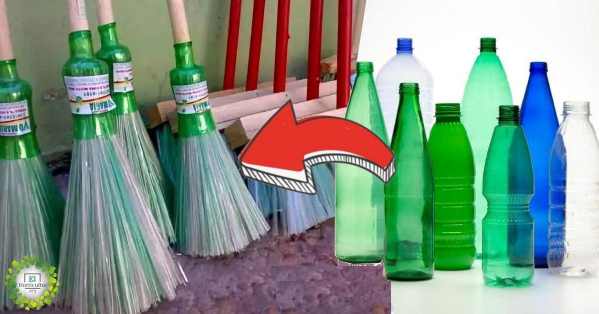 , Como fabricar tus escobas re-utilizando botellas de plástico, paso a paso