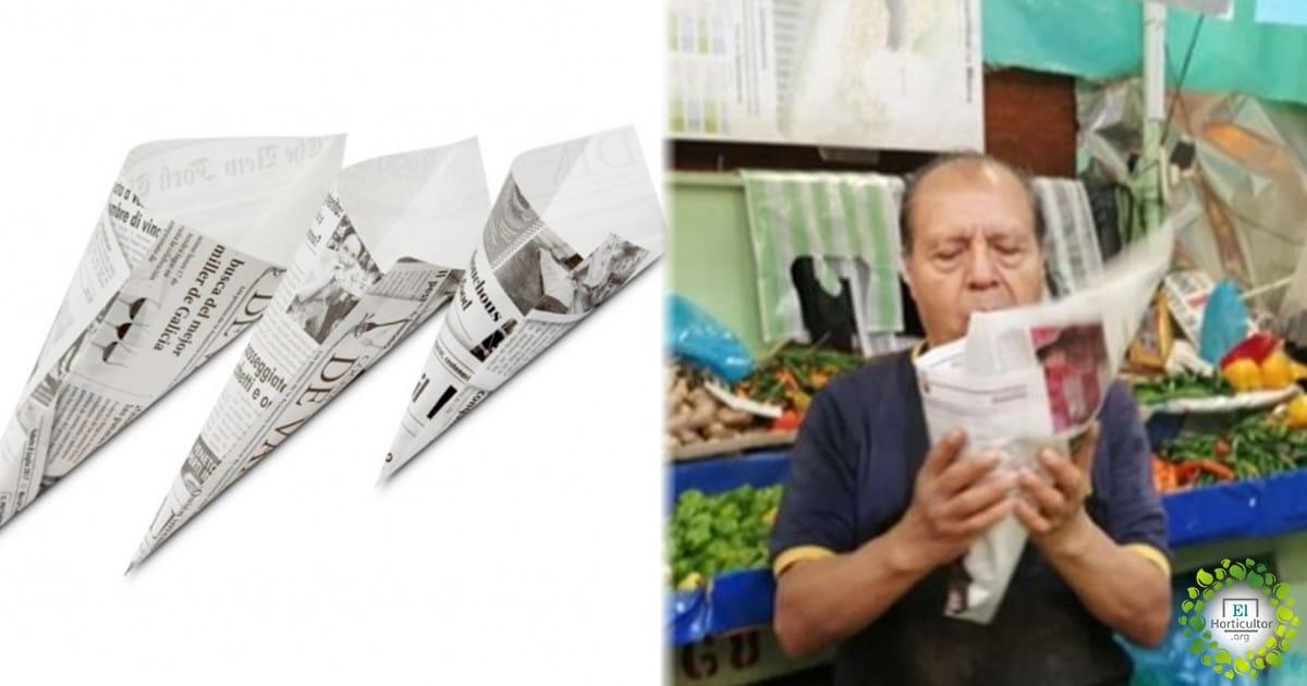 , Vuelven los cucuruchos de papel reciclado a los mercados para evitar el plástico