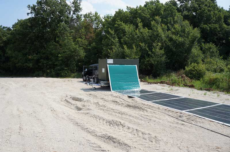 Esta alfombra solar portátil puede proporcionar energía limpia en solo 2 minutos