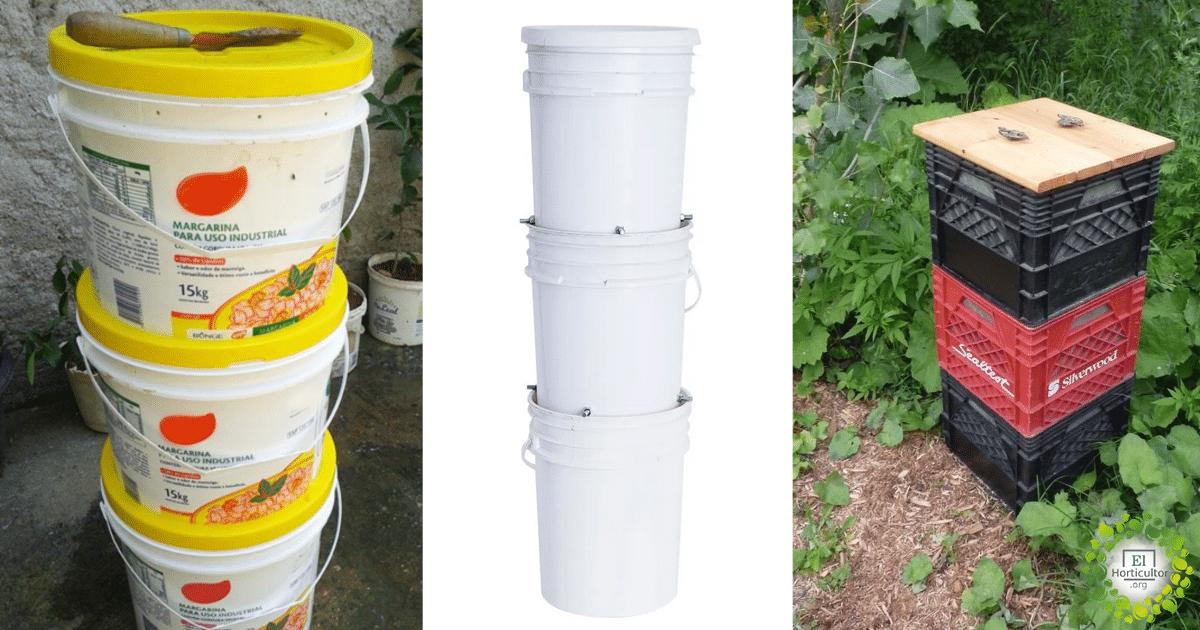 , Cómo construir compostera para departamento reutilizando Baldes