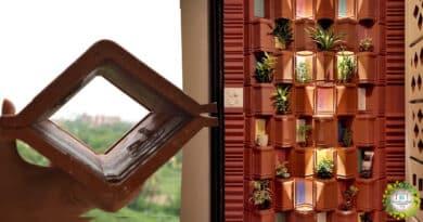 , India: utilizan tejas de arcilla y plantas para crear efectivo sistema de refrigeración natural