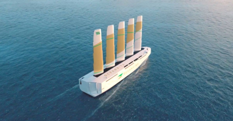Transporte marítimo sostenible: presentan buques cargueros propulsados por el viento