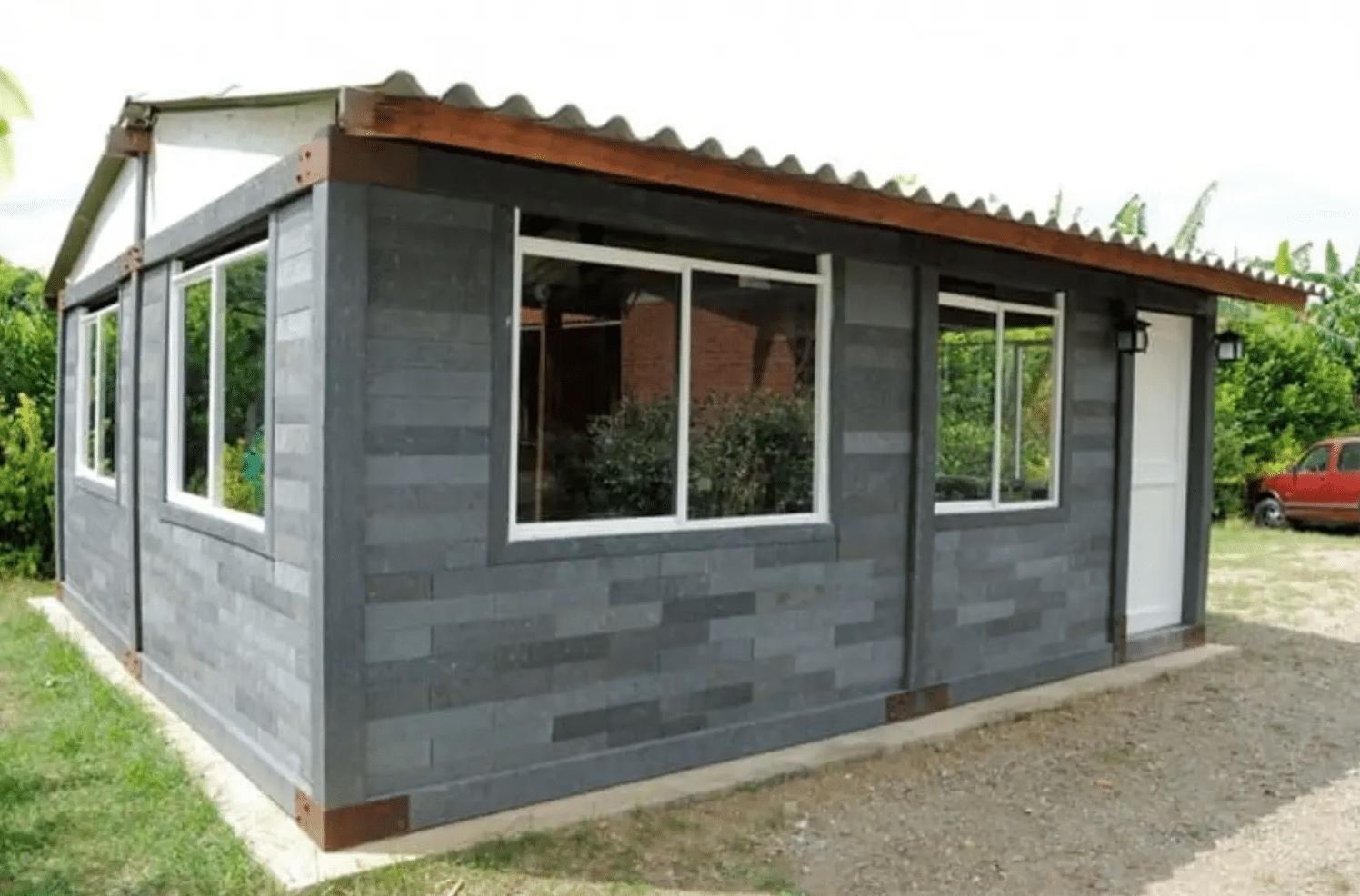 , Casas hechas 100% de Plástico reciclado, Resisten fuego y duran 500 años