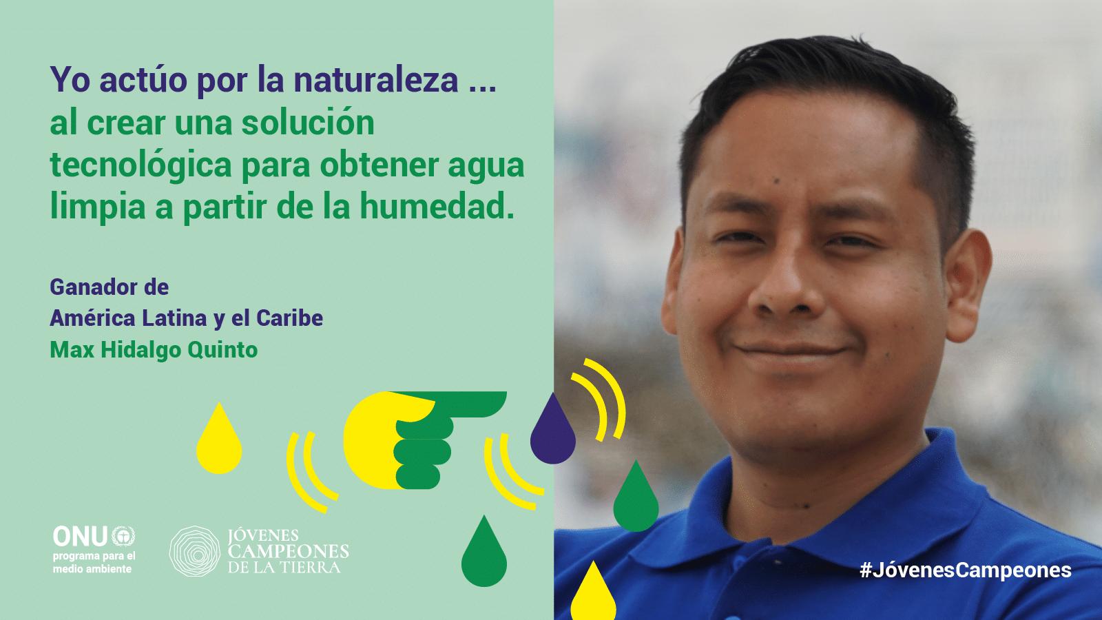 , Peruano transforma el viento en agua y es reconocido por la ONU