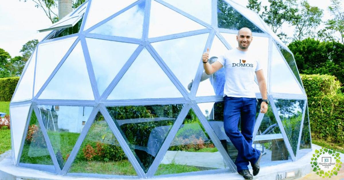 , Ingeniero Colombiano transforma plástico reciclado en Eco-Domos