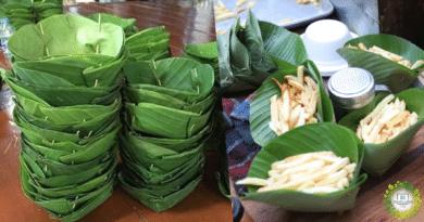 , Guatemala sirve sus papas fritas en hojas de plátano para evitar los plásticos