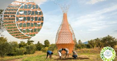 , Esta torre hecha de bambú extrae agua potable del aire