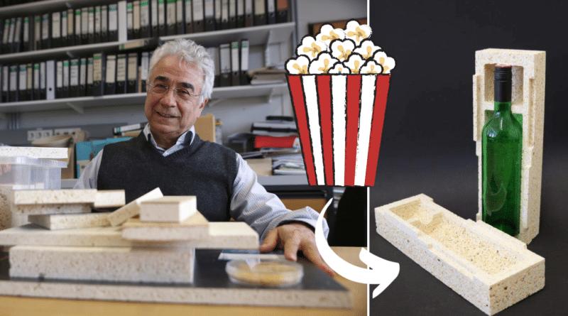 , Científicos alemanes crean envases de palomitas para reemplazar el poliestireno