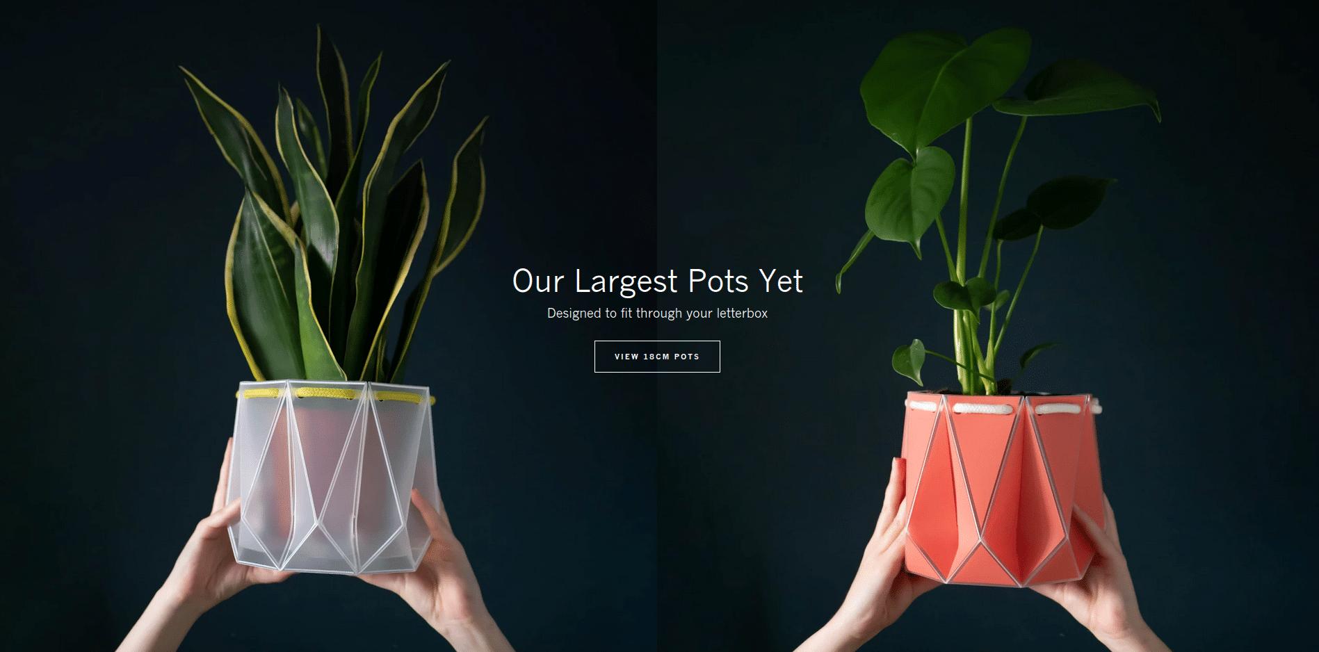 , Escoceses inventan macetas origami sustentables y de riego automático